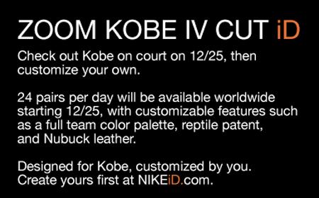 Nike Zoom Kobe IV (4) Cut iD