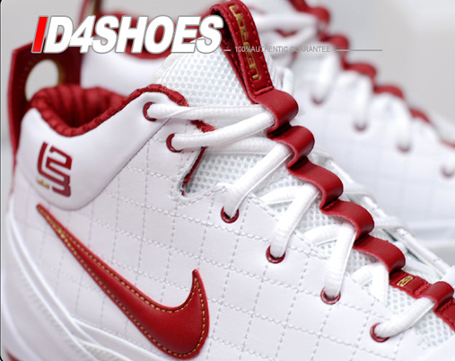 Nike Zoom Lebron Ambassador - White / Varsity Crimson - Metallic Gold