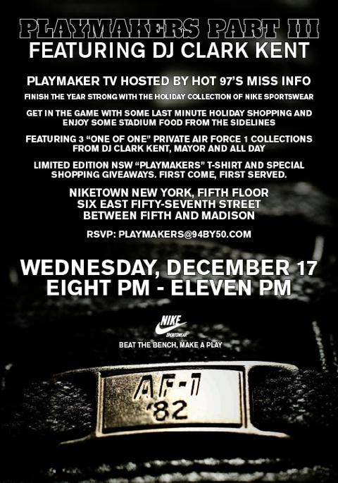 Playmakers DJ Clark Kent Party
