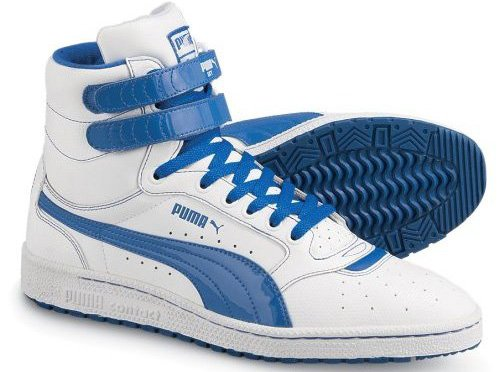 It was originally a high-top model that fastened at the top by Velcro and