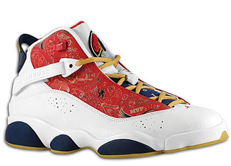 Release Reminder  Air Jordan Six Rings - White   Varsity Red - Wheat ... 51574b162b