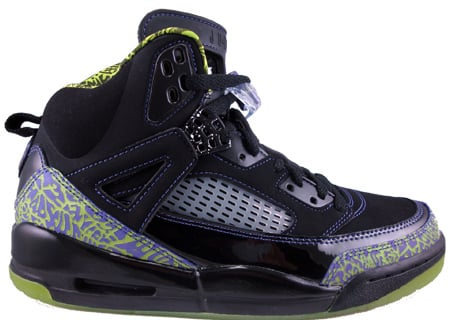 Classic Jordan Spizike Black Citron Pure  Purple White Shoes
