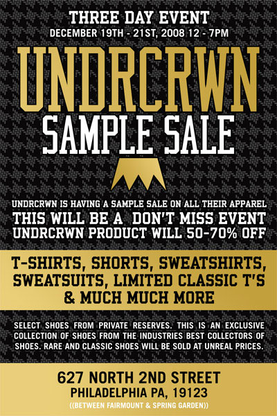 Good Deals All Around: UNDRCRWN Sample Sale!