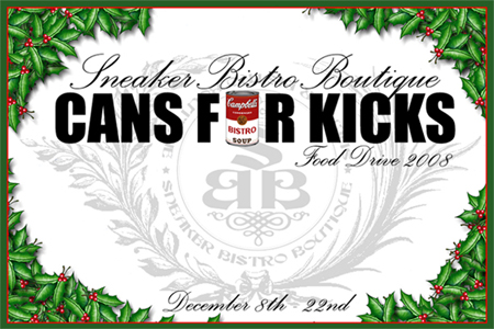 Sneaker Bistro Food Drive Cans For Kicks