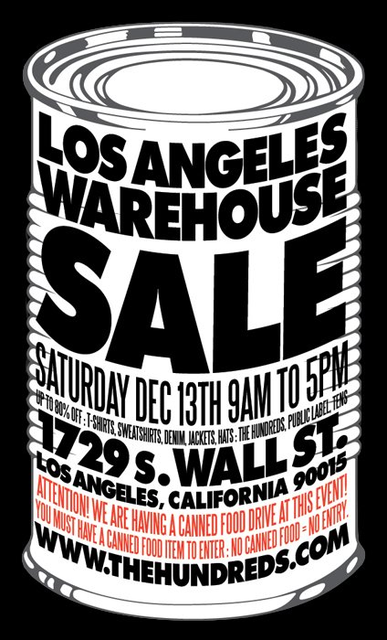 The Hundreds Los Angeles Warehouse Sale