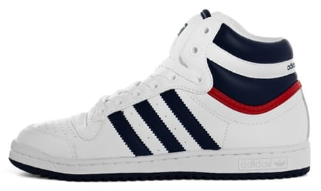adidas Top Ten Hi - White / Blue / Red