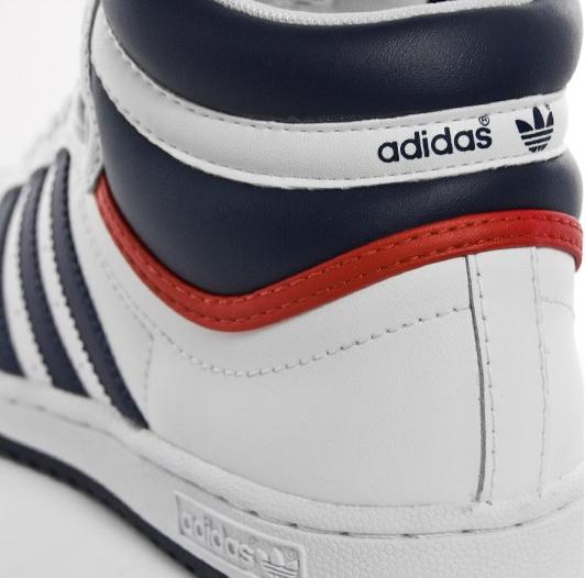 adidas Top Ten Hi - White / Blue / Red