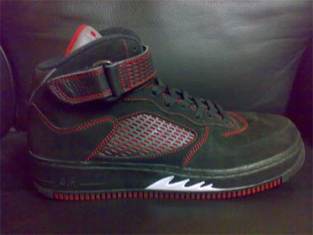 3251a3c1f5b0 outlet Air Jordan Fusion 5 V Black Red Sample - ramseyequipment.com