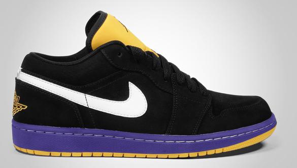 Air Jordan I (1) Low Phat - Lakers - Championship Pack