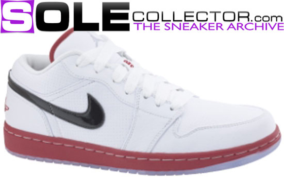 Air Jordan I (1) Low Phat - White / Varsity Red - Black