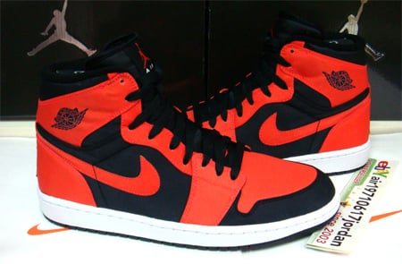 Air Jordan I (1) Retro High - Black / Max Orange - White