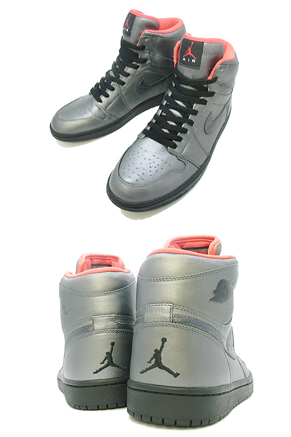 Air Jordan I (1) Retro High Premier - Pewter / Black - Max Orange