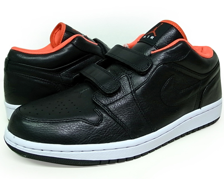 Air Jordan I (1) Retro Low Velcro - Black / Max Orange