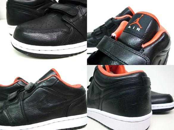 Air Jordan I (1) Retro Low Velcro - Black   Max Orange  f97b87d059a9