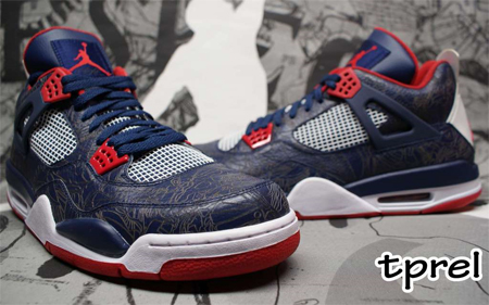 Air Jordan IV (4) Laser - USAB Carmelo Anthony Player Exclusive (PE)