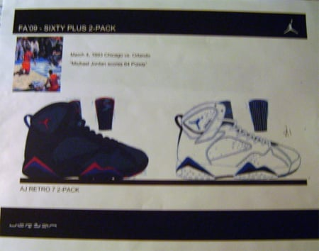 Air Jordan Retro VII (7) - Sixty Plus Pack