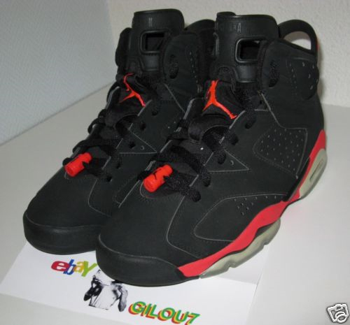 timeless design b0812 8c20f Air Jordan VI (6) Retro - Black / Infrared Sample | SneakerFiles