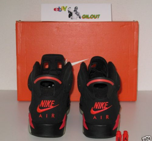 Air Jordan VI (6) Retro - Black / Infrared Sample
