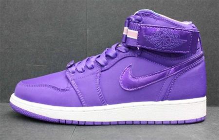 e39966dd0f7e Air Jordan Womens I (1) High Strap - Purple   White
