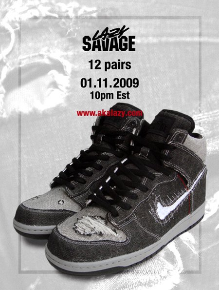 Lazy Nike Savage Dunk High Custom
