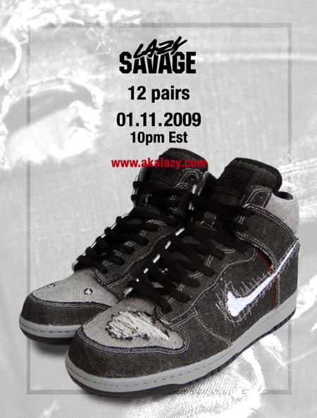 Lazy Nike Savage Dunk High Custom
