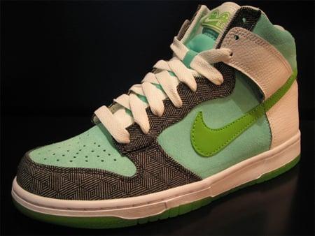 Nike 6.0 Womens Dunk High - Mean Green