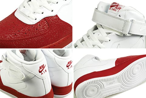 Nike Air Force 1 Mid - White / White - Varsity Red