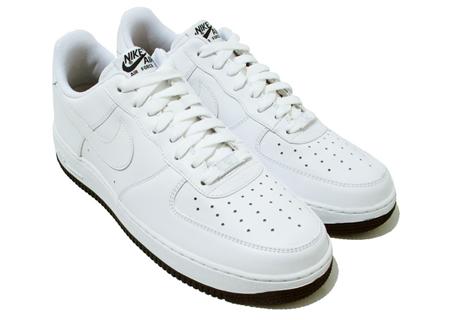Nike Air Force 1 - White / White - Dark Obsidian