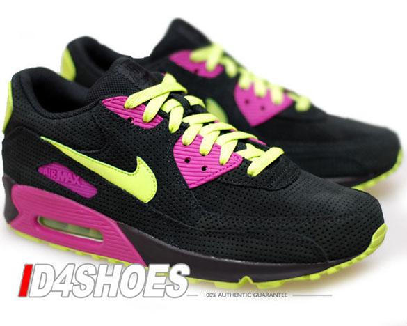Nike Air Max 90 - Black / Citron - Rave Pink