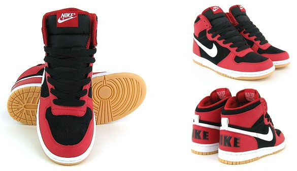 Nike Big Nike High - Varsity Red / White - Black - Gum Yellow