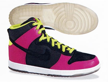 Nike Dunk High Supreme Spark - Black / Pink / Lime