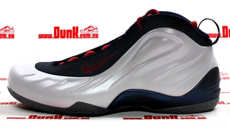 Nike Foamposite Lite - White / Varsity Red - Midnight Navy | Yi Jianlian