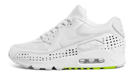 Nike Womens Air Max 90 Classic - White / Black / Green