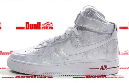 pretty nice b5d5d 765ac Nike Womens Air Force 1 High Premium - White  White - Varsity Red