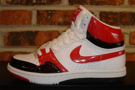 Nike Womens Court Force High - White / Varsity Red / Black / White