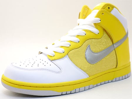 the best attitude cb845 5ce84 Nike Womens Dunk High - Yellow   White   Silver