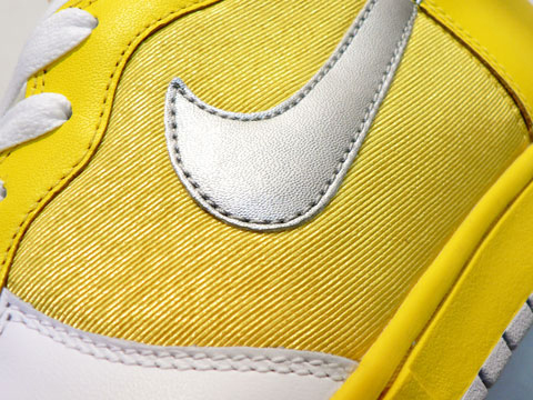 Nike Womens Dunk High - Yellow / White / Silver