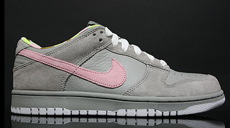 Nike Women Dunk Low - Medium Grey / Pink Glaze - White