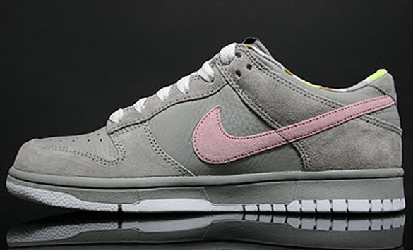 Nike Womens Dunk Low - Medium Grey / Pink Glaze - White
