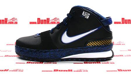 Nike Zoom Lebron VI (6) - Black / White - Varsity Royal - Varsity Maize Detailed Look