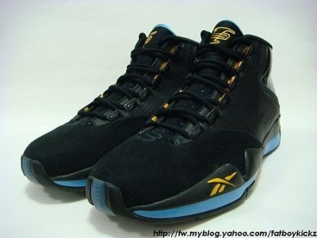 "Reebok Answer XII (12) Black/Powder Blue/Yellow ""Nuggets Away"""