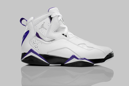 Release Reminder: Air Jordan True Flight - White / Metallic Silver - Black - Varsity Purple