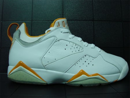 72f2cdeef7e0 Sample Air Jordan VII (7) Low - White   Citrus