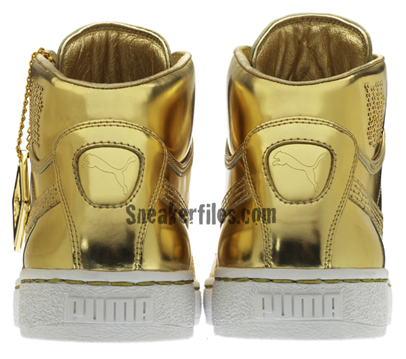Undefeated x PUMA 24k Mid Gold