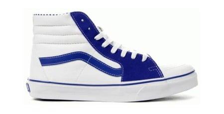 vans sk8 hi royal blue checkered
