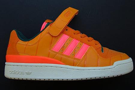 "adidas Consortium ""Watermelon"" Forum Mid & ""Pumpkin"" Forum Low"