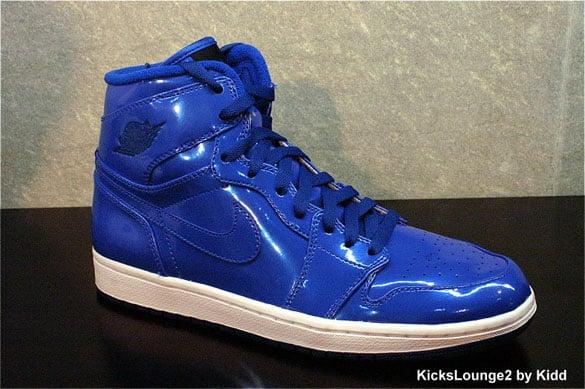 Air Jordan I (1) Retro High - Blue Sapphire / Neon Turquoise - White