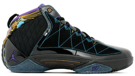 Air Jordan CP3 II - Black / Court Purple - Orion Blue - Sunstone