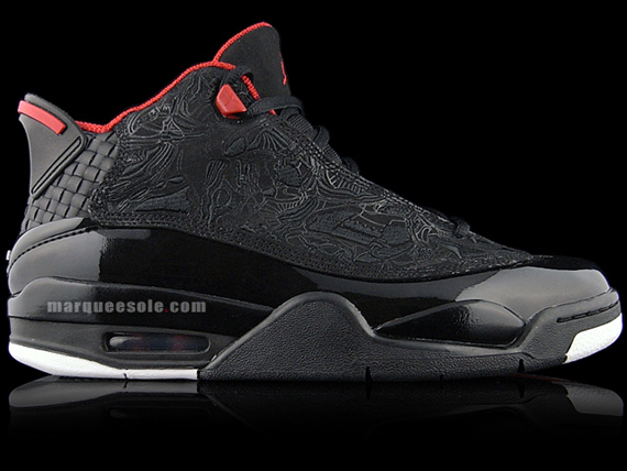 Air Jordan Dub Zero - Black / Varsity Red - White