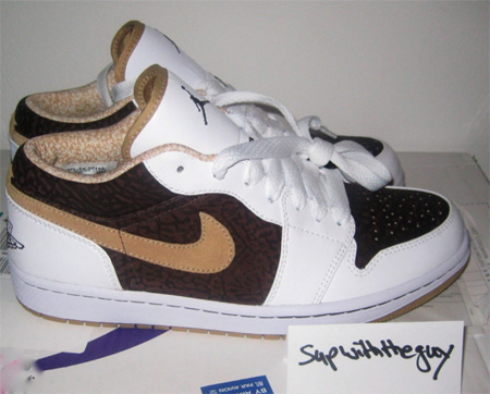 Air Jordan I (1) Low - Brown Cement Print